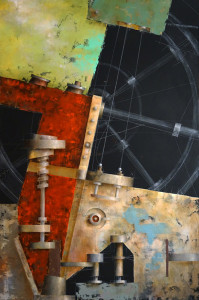painting of mechanical parts, by Ken Berman