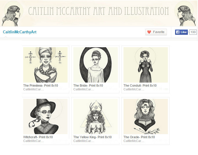 Etsy store of Caitlin McCarthy, Art Prints