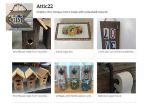 Attic 22, woodcrafts, Etsy shop