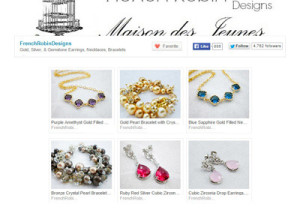 jewelry by French Robin Designs Etsy store
