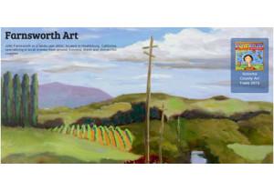 John Farnsworth, art of vineyards and hills