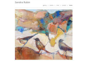 Sandra Rubin, painting of birds