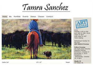 Tamra Sanchez, painting of cowboy on a horse