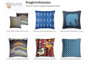 craft pillows at Foxglove Etsy shop